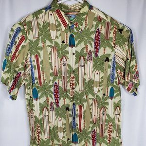Vintage Reyn Spooner Beautiful Long Board Shirt